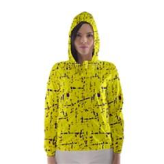 Yellow summer pattern Hooded Wind Breaker (Women)