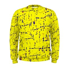 Yellow summer pattern Men s Sweatshirt