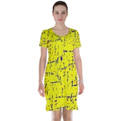 Yellow summer pattern Short Sleeve Nightdress