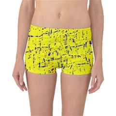 Yellow summer pattern Boyleg Bikini Bottoms