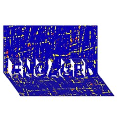 Blue pattern ENGAGED 3D Greeting Card (8x4)