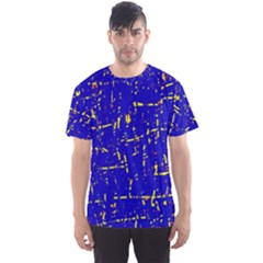 Blue pattern Men s Sport Mesh Tee