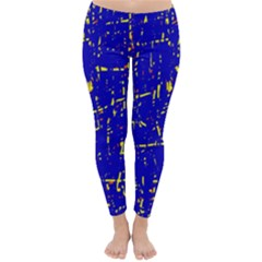 Blue pattern Winter Leggings