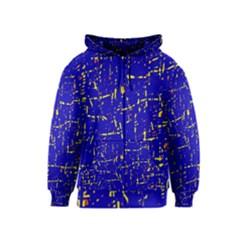 Blue pattern Kids  Zipper Hoodie