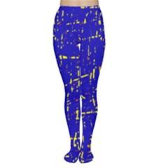 Blue pattern Women s Tights