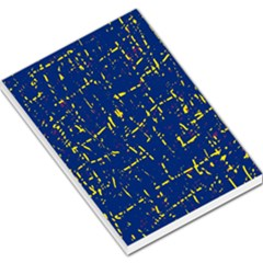 Deep blue and yellow pattern Large Memo Pads
