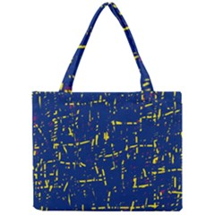 Deep blue and yellow pattern Mini Tote Bag