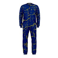 Deep blue and yellow pattern OnePiece Jumpsuit (Kids)