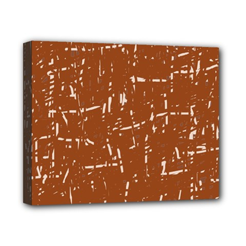Brown elelgant pattern Canvas 10  x 8