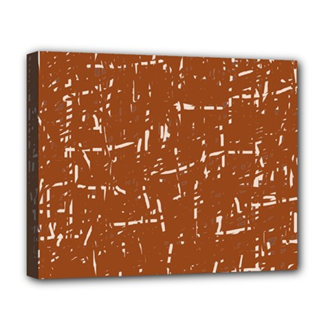 Brown elelgant pattern Deluxe Canvas 20  x 16