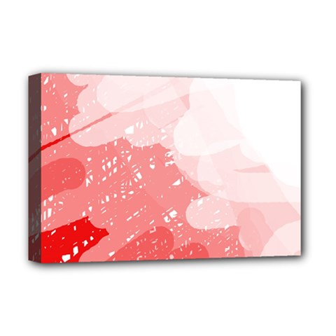 Red pattern Deluxe Canvas 18  x 12