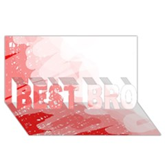 Red pattern BEST BRO 3D Greeting Card (8x4)