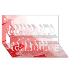 Red pattern Congrats Graduate 3D Greeting Card (8x4)