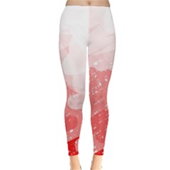 Red pattern Leggings