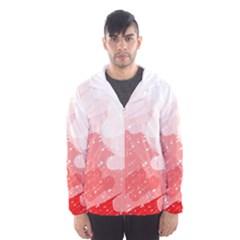 Red pattern Hooded Wind Breaker (Men)