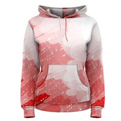 Red pattern Women s Pullover Hoodie