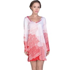 Red pattern Long Sleeve Nightdress