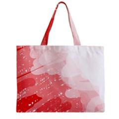 Red pattern Zipper Mini Tote Bag