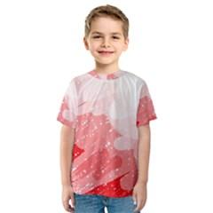 Red pattern Kid s Sport Mesh Tee