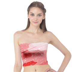 Red pattern Tube Top
