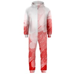 Red pattern Hooded Jumpsuit (Men)