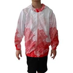 Red pattern Hooded Wind Breaker (Kids)