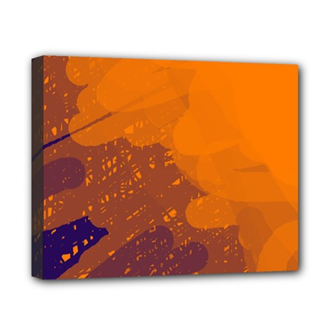 Orange and blue artistic pattern Canvas 10  x 8