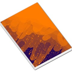 Orange and blue artistic pattern Large Memo Pads