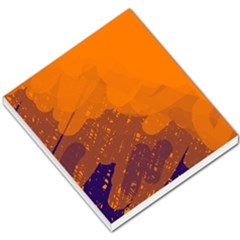 Orange and blue artistic pattern Small Memo Pads