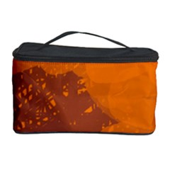 Orange and blue artistic pattern Cosmetic Storage Case