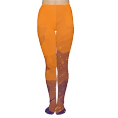 Orange and blue artistic pattern Women s Tights