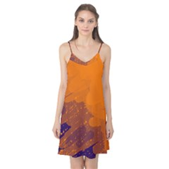 Orange and blue artistic pattern Camis Nightgown