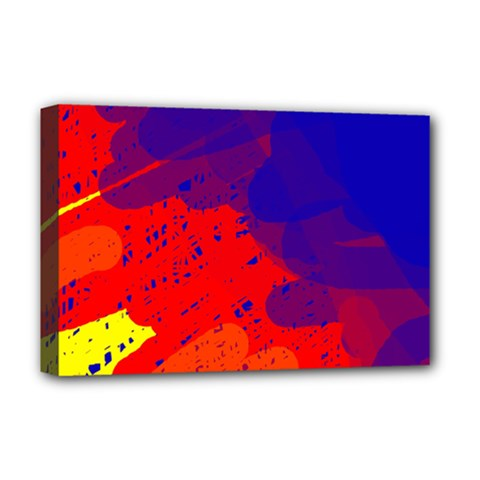 Colorful pattern Deluxe Canvas 18  x 12