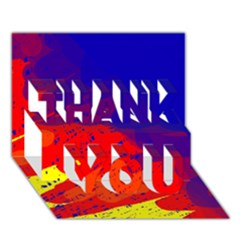 Colorful pattern THANK YOU 3D Greeting Card (7x5)