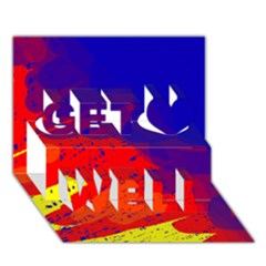 Colorful pattern Get Well 3D Greeting Card (7x5)