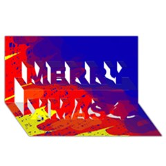 Colorful pattern Merry Xmas 3D Greeting Card (8x4)