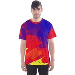 Colorful pattern Men s Sport Mesh Tee