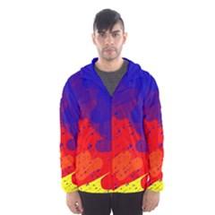 Colorful pattern Hooded Wind Breaker (Men)