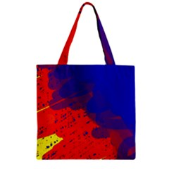 Colorful pattern Zipper Grocery Tote Bag