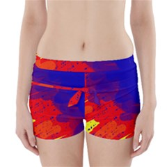 Colorful pattern Boyleg Bikini Wrap Bottoms