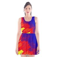Colorful pattern Scoop Neck Skater Dress