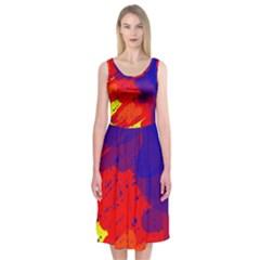 Colorful pattern Midi Sleeveless Dress