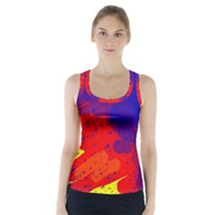 Colorful pattern Racer Back Sports Top
