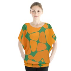Orange shapes              Batwing Chiffon Blouse