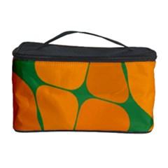 Orange shapes                                                                                        Cosmetic Storage Case