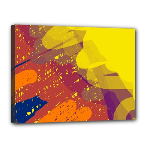Colorful abstract pattern Canvas 16  x 12