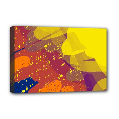 Colorful abstract pattern Deluxe Canvas 18  x 12