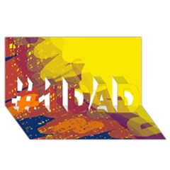 Colorful abstract pattern #1 DAD 3D Greeting Card (8x4)