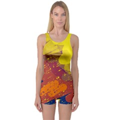 Colorful abstract pattern One Piece Boyleg Swimsuit