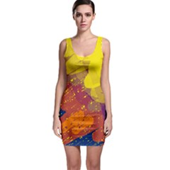 Colorful abstract pattern Sleeveless Bodycon Dress